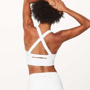Lululemon sweat your heart out sports bra white